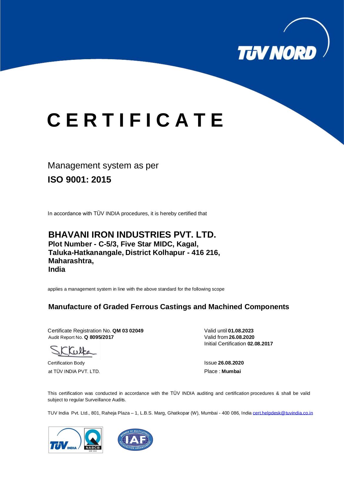 Bhavani Iron Industries Pvt  Ltd , Manufacturers of Heavy & graded